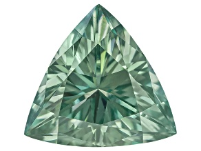Moissanite Fire ™ Green 6.5mm Trillion Brilliant Cut Apx .80ct Diamond Equivalent Weight