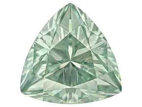 Moissanite Fire ™ Green 5.5mm Trillion Brilliant Cut Apx 1.50ct Diamond Equivalent Weight