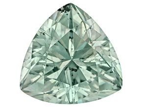 Moissanite Fire ™ Green 5mm Trillion Brilliant Cut Apx .40ct Diamond Equivalent Weight
