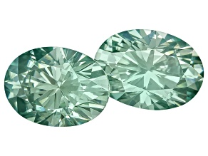 Moissanite Fire ™ Green 7x5mm Oval Brilliant Cut Apx 1.80ctw Diamond Equivalent Weight