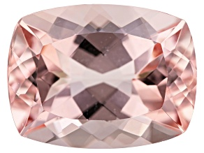 12.17ct Morganite 17x13mm Rec Cush Mined In Pak, Cut In India
