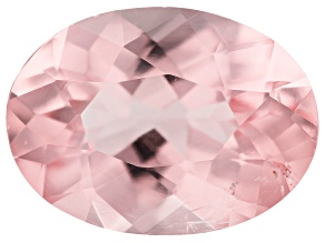 3.70ct Morganite 12x9mm Oval Mined in Pak, Cut in india
