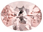 6.78ct Morganite 15x11mm Oval Mined in Pak, Cut in india