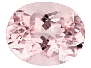 4.73ct Morganite 11.9x9.7mm Oval Mined in Pak, Cut in india