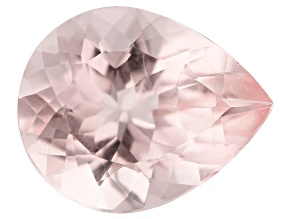2.91ct Morganite 11x9mm Pear Mined In Pak, Cut In India
