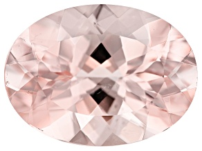 8.26ct Morganite 16x12mm Oval Mined In Pak, Cut In India