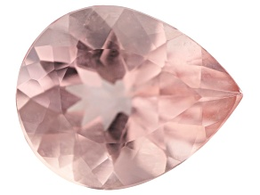 2.52ct Morganite 11x9mm Pear Mined In Pak, Cut In India