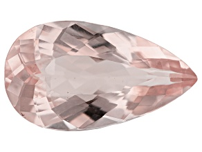 11.31ct Morganite 22.4x12.7mm Pear Mined In Pak, Cut In India