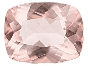 1.50ct min wt. Morganite 9x7mm Rect Cush