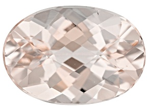 Morganite 14x10mm Oval Checkerboard Cut 5.15ct