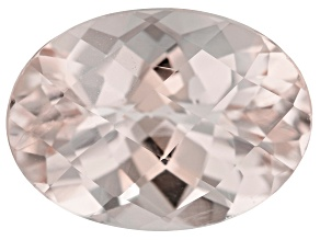 Morganite 14x10mm Oval Checkerboard Cut 5.50ct