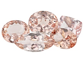 Morganite Mixed Set of 5 15.15ctw