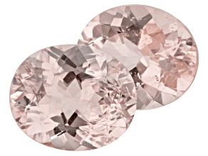 Morganite 12x10mm Oval Matched Pair 8.43ctw