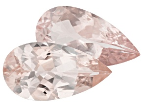 Morganite 16x8mm Pear Shape Matched Pair 6.26ctw