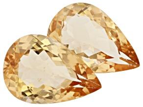 Golden Beryl 13x9mm Pear Shape Matched Pair 6.59ctw