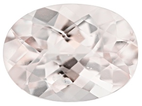 Morganite 13.5x10mm Oval Checkerboard Cut 4.80ct
