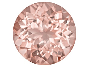 Morganite 14mm Round Portuguese Cut 9.00ct
