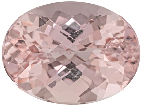 Morganite 16x12mm Oval Checkerboard Cut 9.50ct