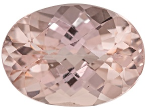 Morganite 15.5x11mm Oval Checkerboard Cut 7.25ct