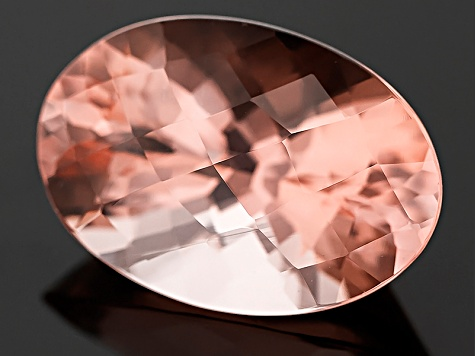 Morganite 27.57x18.92mm Oval Checkerboard Cut 35.67ct