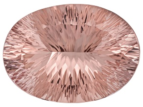 Morganite 30.16x21.87mm Oval Quantum Cut 46.22ct