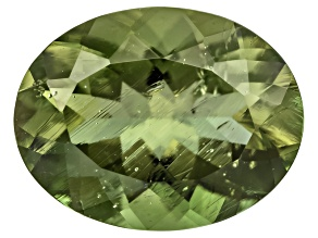 Green Moldavite 9x7mm Oval Mixed Cut 1.15ct