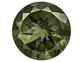 Green Moldavite 12mm Round Mixed Cut 4.00ct