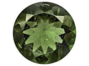 Green Moldavite 14mm Round Mixed Cut 5.50ct