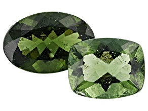 4.44ct Moldavite Varies mm Set Of 2 Varies Shape