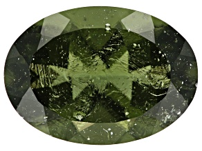Moldavite 14x10mm Oval 4.25ct