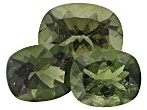 Moldavite Rectangular Cushion Set of 3 8.98ctw