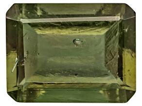 Moldavite 9x7mm Emerald Cut 1.75ct