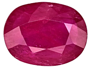 Ruby 9x7mm Oval Mixed Step cut 1.50ct