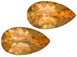 Imperial Topaz Untreated 10.8x6.2mm Pear Shape Matched Pair 3.69ctw