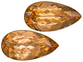 Imperial Topaz Untreated 10.4x5.5mm Pear Shape Matched Pair 2.95ctw