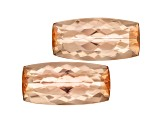 Imperial Topaz Untreated 11.5x4.6mm Rectangular Cushion Matched Pair 5.11ctw