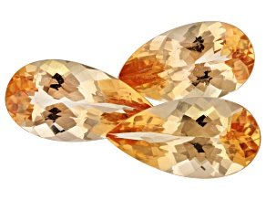 4.16ct Imperial Topaz Varies mm Set Of 3 Pear