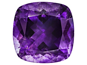 Amethyst With Needles 14.5mm Square Cushion 11.00ct