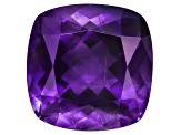 Amethyst With Needles 15.5mm Square Cushion 13.00ct