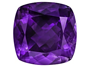 Amethyst With Needles 16mm Square Cushion 14.50ct
