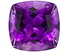 Amethyst With Needles 14mm Square Cushion 9.75ct