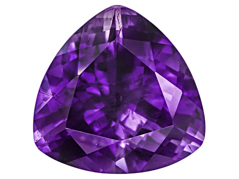Amethyst With Needles 15x15mm Trillion 10.00ct