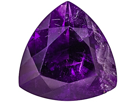 Amethyst With Needles 15.5mm Trillion 11.00ct