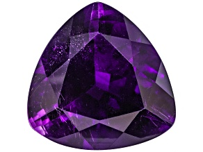 Amethyst With Needles 16.5mm Trillion 13.00ct