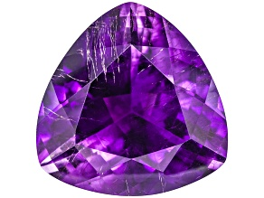 Amethyst With Needles 19mm Trillion 19.50ct