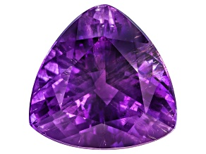 Amethyst With Needles 17.5mm Trillion 14.75ct