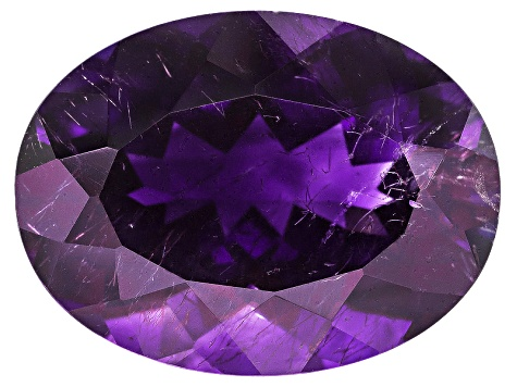Amethyst With Needles 16.5x12.5mm Oval 9.50ct