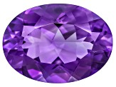 Amethyst With Needles 18x13mm Oval 11.00ct