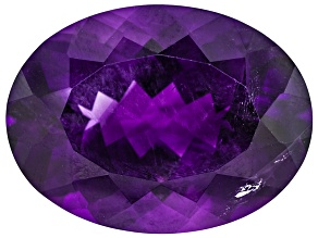 Amethyst With Needles 20.5x15.5mm Oval 16.50ct
