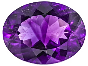 Amethyst With Needles 21x16.5mm Oval 19.00ct
